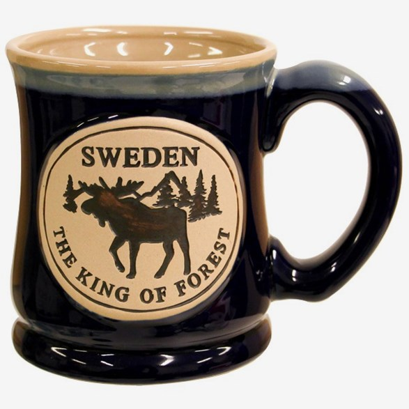 Blue Mug With Moose
