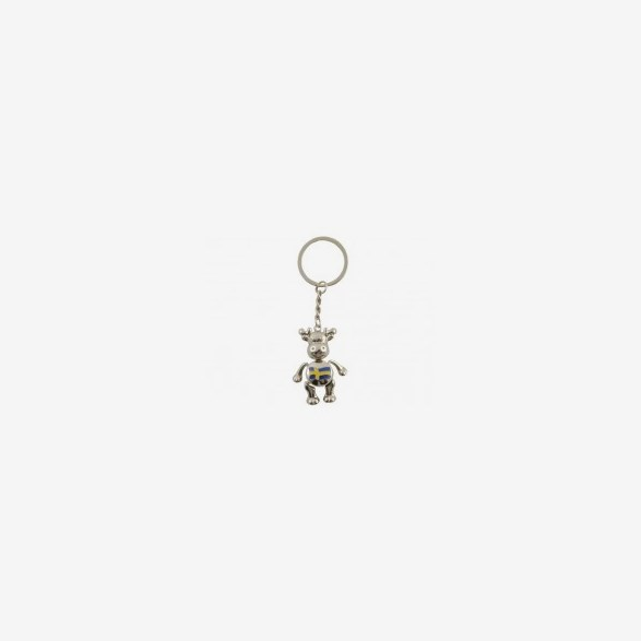Keychain Moose Silver