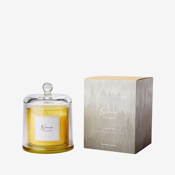 Sense A Luxurious Yellow Citrus & Basil Scented Candle