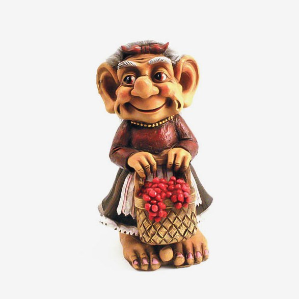 Trolla Troll With Berry Picking Basket - Small