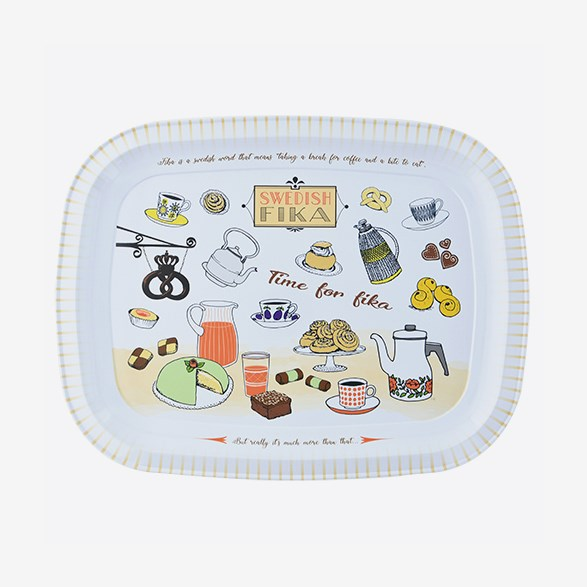 Tray Swedish Fika 32 x 25 cm