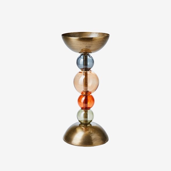 Ellen Multicolored Candlestick 11x25cm