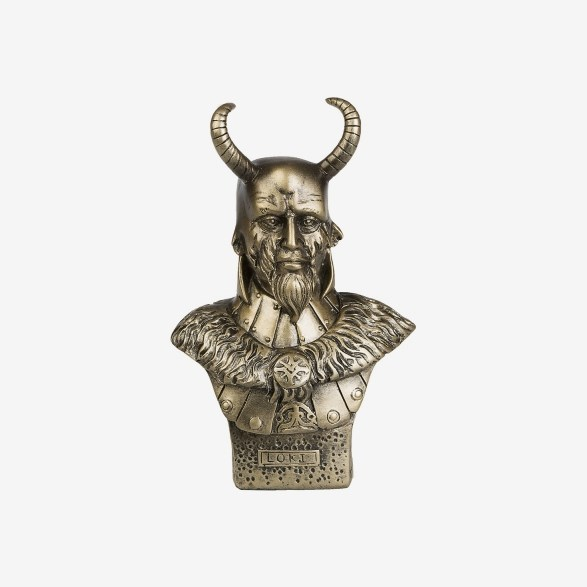 Norse Mythology Figure Loki Bust 11 Inch Bronze Stone Statue Home Office Decoration by Pacific Trading
