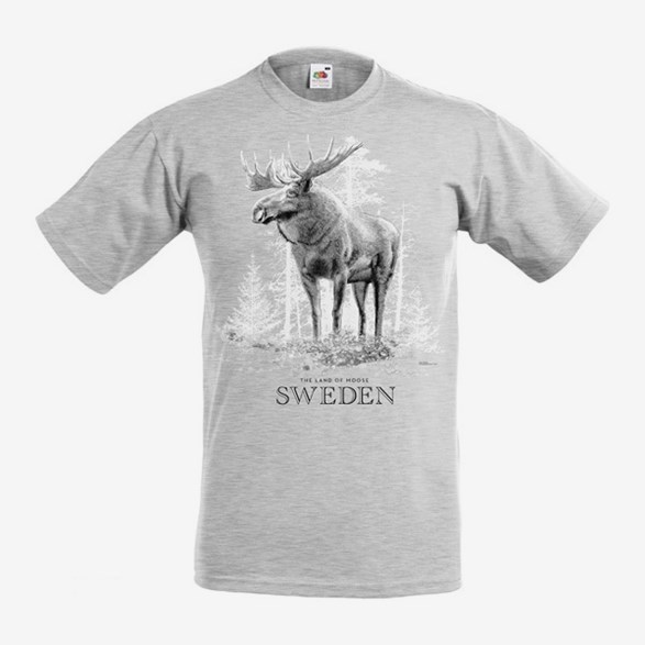 T-Shirt Sweden The Land Of Moose