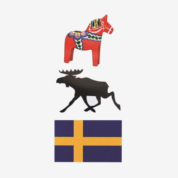Decals Swedish Flag  Moose & Dala Horse