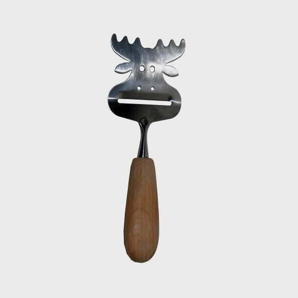 Cheese Slicer With Wooden Handle Moose
