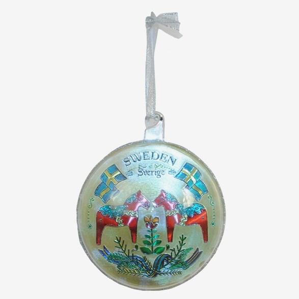 Christmas Ornament With Dala Horse