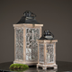 Ornament Nature Colored Wooden Candle Lantern Set