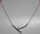 Necklace steel silver
