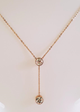 Necklace Rose gold with stone