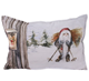 Pillow With Santa On Skis