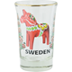 Shot Glass With Dala Horse