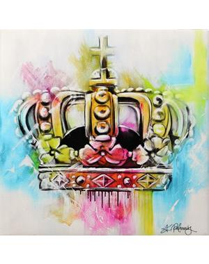 Crown Canvas Print 16x16 cm
