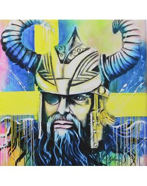 Viking Canvas Print 16x16 cm