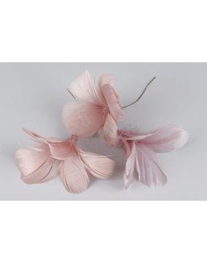 Antique Rose Feathers 12 Pack