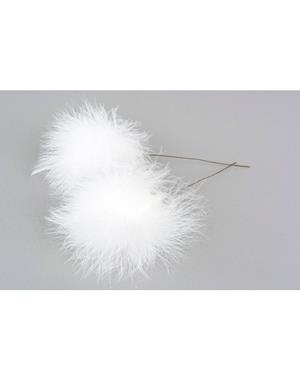 Fluffy Feathers White 12 Pack