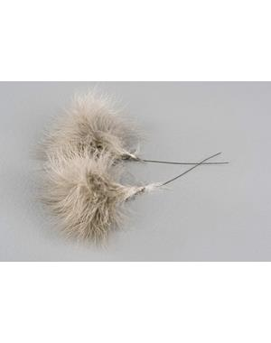 Fluffy Feathers Light Brown 12 Pack