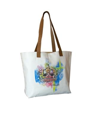 Canvas Bag With Crown Motif
