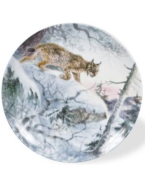 Plate With Lynx Motif By Rolf Svensson