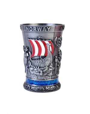 Metal Shot Glass Norway