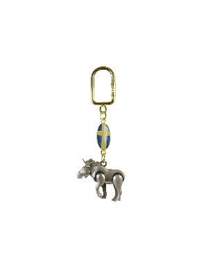 Metal Keychain 3-D Moose