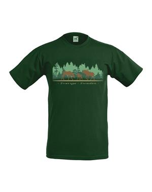T-Shirt Moose Family Green