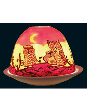 Tealight Candle Holder Owls Color