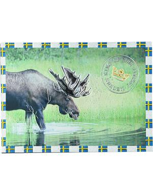 "Fridge Magnet With Moose ""King Of The Forest"""