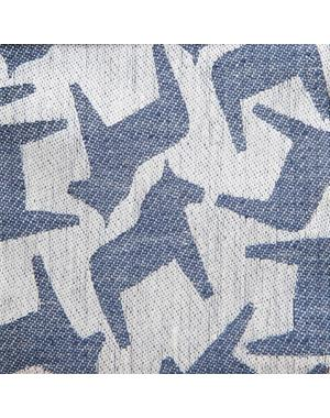 Kitchen Towel With Dala Horse 35 * 60 Navy Blue