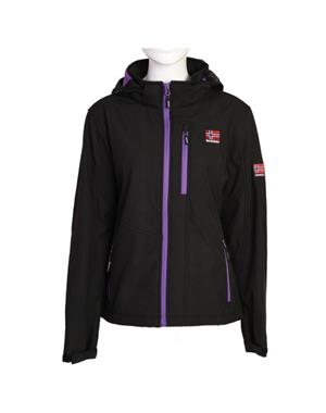 Black & Violet Softshell Jacket Woman - Sport Edition
