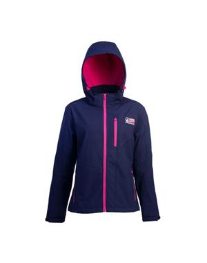 Dark Blue & Pink Softshell Jacket Woman - Sport Edition
