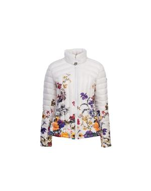Down Jacket Woman - Flowers White