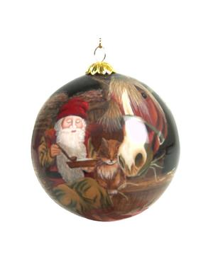 Christmas Ornament Santa With Animals