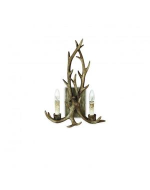 Chalet Wall Lamp With Reindeer Horn