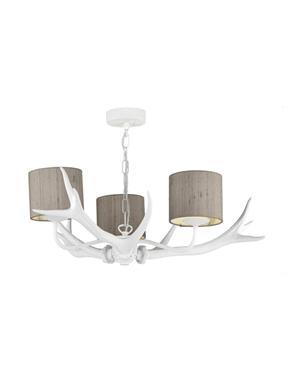Antler 3 White Horn Lamp From David Hunt