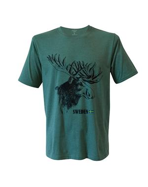 T-shirt Sweden Moose Adult - Green