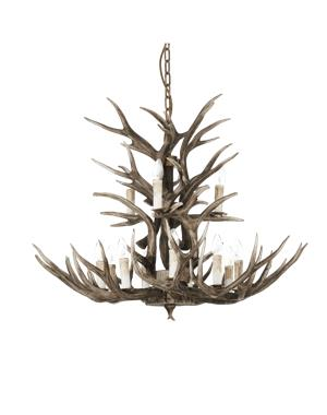 Chalet Horn Chandelier With 12 Lights