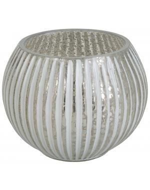 White and Silvery Candle Lantern 10 cm