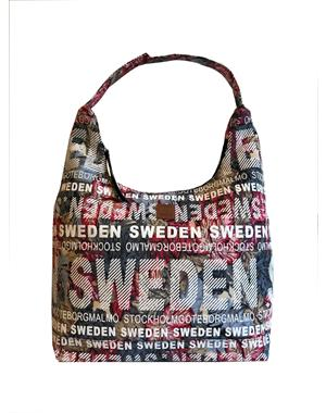 Väska / City Bag Röd & Grå