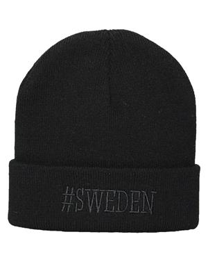 Hat #Sweden Black