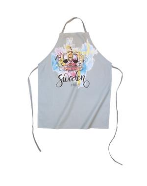 Apron With Crown Print