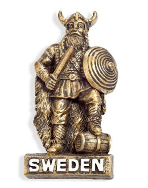 Fridge Magnet Bronze Colored Viking