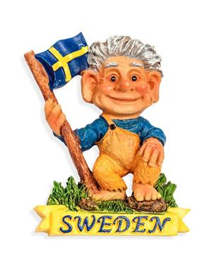 Fridge Magnet Troll Sweden