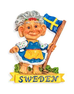 Fridge Magnet Troll Lady Sweden