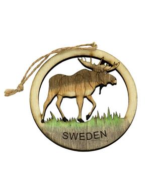 Fridge Magnet Wooden Moose