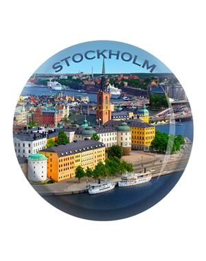 Fridge Magnet Made Of Glass Riddarholmen Stockholm