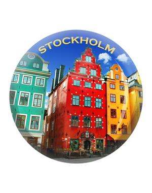 Fridge Magnet Made Of Glass Stortorget Stockholm