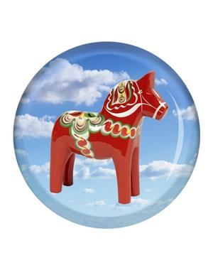 Fridge Magnet Made Of Glass Dala Horse