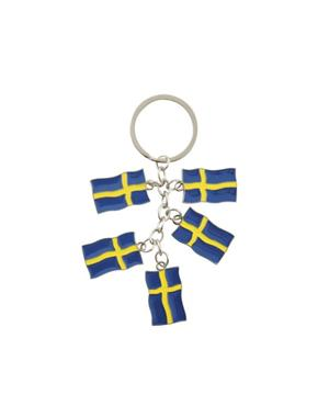 Keychain Swedish Flags