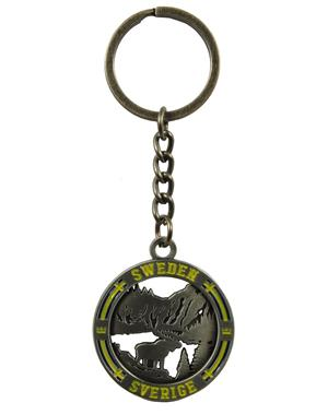 Metal Keychain Moose